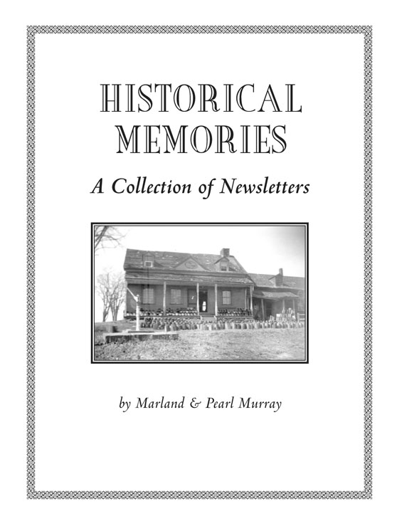 historical memories, newsletter collection of cornwall township historical society